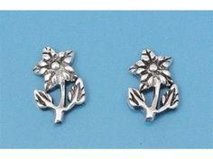 Pure Sterling Silver .925 Intricate Flower Stud Earrings http://www.ebay.com/itm/181243606387?ssPageName=STRK:MESELX:IT&_trksid=p3984.m1555.l2649