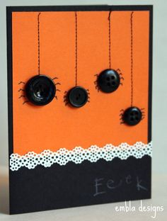 Set of 5 Halloween Cards