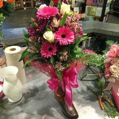 Safeway Floral Cowboy Boot Bouquet