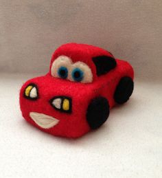 Needle Felted Toy Car