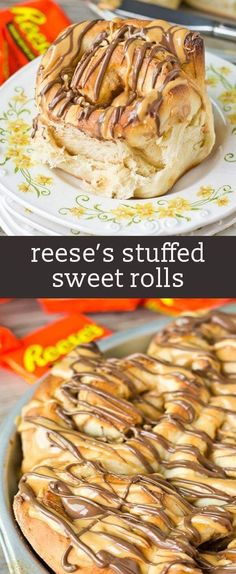 Why not have Reese's peanut butter cups for breakfast? Peanut butter cream and Reese's are stuffed inside this homemade bread. Such a sweet way to start your day!