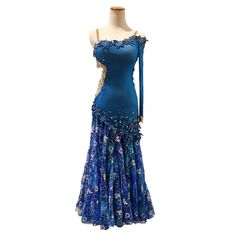 Electric Blue Latin/Smooth Dress