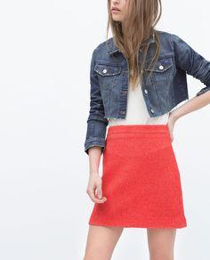 Image 2 of FLARED MINI SKIRT from Zara