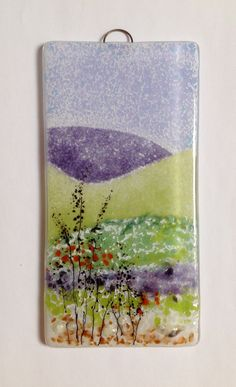 Fused glass wall panel, ready to hang. By Fired Creations. info@firedcreations.co.uk
