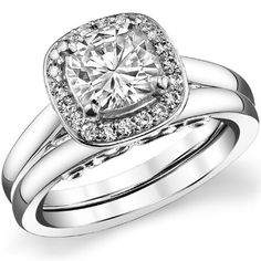 My ring! Maybe an oval instead of a cushion.