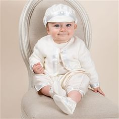 Newborn Boy 3-Piece Set - Owen Christening/Baptism Collection - Adorable Gowns & Suits-For a boy