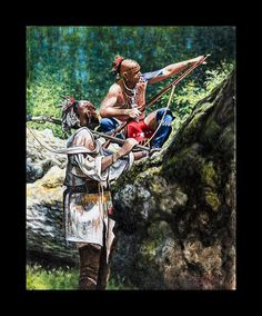 Fallen Timber by Steve White kK Woodland Indians, Woodland Art, Native American Pictures, Native American Artwork, Native American Warrior, Native American Indians, Steve White, American Frontier, American Revolution