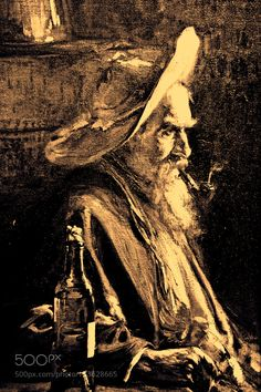 painting: the old man #fineart #sebastiangreenwood