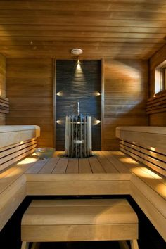 RTV-pintamateriaalitalo - sauna | Asuntomessut Saunas, Sauna Steam Room, Sauna Room, Sauna Lights, Sauna Shower, Portable Sauna, Japanese Bathroom, Sauna Design, Finnish Sauna