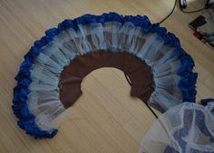 circle skirt asymmetrical - Falda circular, plato con Falso