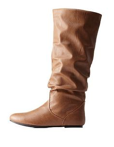 Slouchy Flat Knee-High Boots: Charlotte Russe
