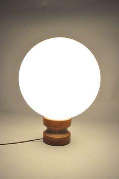 Vintage glass ball table lamp.
