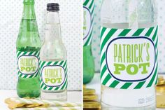St. Patrick's Day soda pop labels by One Charming Party