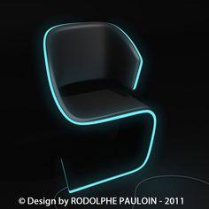 neon furniture lamed chair design ac plug it in and get a neon blue light neon furniture for sale Futuristic Furniture, Cool Furniture, Modern Furniture, Furniture Design, Futuristisches Design, Chair Design, Modern Design, House Design, Loft Interior