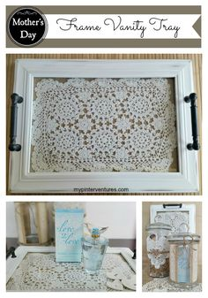 Mother's Day DIY Frame Vanity Tray #L2LMom #ad #CollectiveBias @Walmart