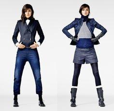 G-Star RAW 2013-2014 Winter Womens Lookbook: Designer Denim Jeans Fashion: Season Collections, Runways, Lookbooks and Linesheets