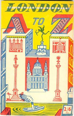 London A to Z travel guide book  1954