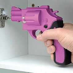 Revolver Shaped Screwdriver Rechargeable With Drill Bits @L. Simms Furuya Young: I need this screwdriver.  :)