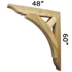Huge bracket from ProWoodMarket.com For at the top of our gables in front and back