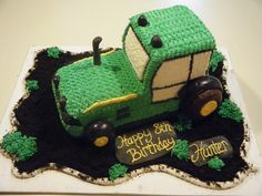 Butter cream iced tractor cake - Cake for husband or future child?