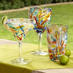 Add instant fun to the party with our Confetti Drinkware - Love this! Pier One