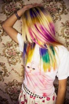 Beautiful multi colour dye dip colouring