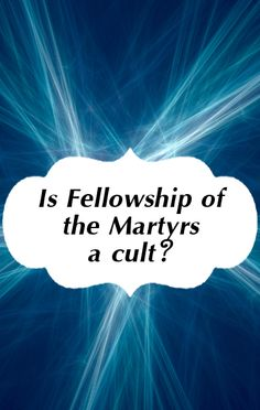 Doug Perry insists that Fellowship Of The Martyrs is not a cult.