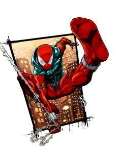 So the other day put out these kick ass lines of the scarlet spider. and I HAD to put some colors on it. The background is supposed to look very gritt. Dc Comics Superheroes, Marvel Comics Art, Marvel Heroes, Scarlet Spider Ben Reilly, Spider Art, Spider Verse, Miles Morales Spiderman, Spiderman Pictures, Spider Carnage