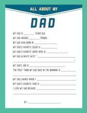 Persnickety Prints father's day interview printable