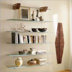 Glass shelves In Bathroom DIY - Glass shelves Closet - - - Glass shelves Kitchen Shelf Brackets Glass Bookshelves, Glass Corner Shelves, Glass Shelves In Bathroom, Floating Glass Shelves, Bookcase Shelves, Hanging Shelves, Shelves Lighting, Modern Bookcase, Floating Wall