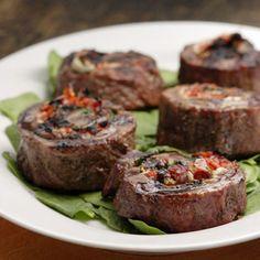 Flank Steak Pinwheels-Appetizer Recipes - Delish