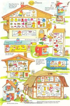 Richard scarry New Hair Cut new haircut vine Richard Scarry, My Childhood Memories, The Good Old Days, Colorful Pictures, Vintage Children, Children's Literature, Book Authors, Childrens Books, Illustrators