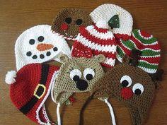Christmas Crochet Hats.