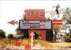 The sign for the Ute Drive-In, Midvale, Utah
