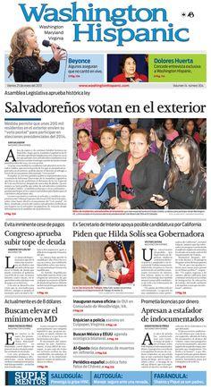 Edición del 25 de Enero de 2013. http://www.washingtonhispanic.com/index.php?mod=historico=272