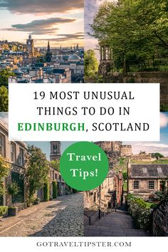 Explore Edinburgh, Scotland's Capital most unique attractions.  From best spots for Photography, must see attractions on the Royal Mile and off, unusual places to eat, and other unique things to do in Edinburgh this packed travel guide will help you make the most of your vacation.  #edinburgh #scotland #scotlandtravelguide