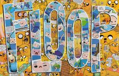 FLOOP Original Adventure Time Comics Collage by PowerUpCollage