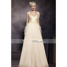 Applique Beige Scoop Beaded Backless Sleeveless Prom Dress 30519 ❤ liked on Polyvore featuring dresses, pink sleeveless dress, beaded dress, sleeveless prom dress, sleeveless cocktail dress and sleeveless dress