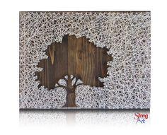DIY String Art Kit - Inverse Tree, Oak Tree String Art, Home decor, DIY Kit, Crafts Kit, Gift Ideas, String Art Pattern, all supplies inside by StringoftheArt on Etsy https://www.etsy.com/listing/278367016/diy-string-art-kit-inverse-tree-oak-tree