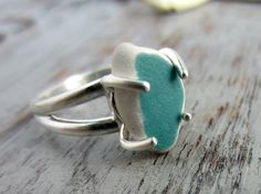 Hey, I found this really awesome Etsy listing at https://www.etsy.com/listing/157930232/petite-teal-sea-pottery-sterling-silver