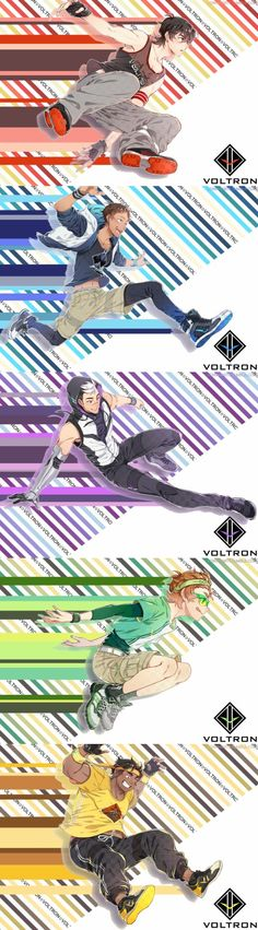 voltron legendary defender lowaharts they look like they re striding prince of stride anime holy shit