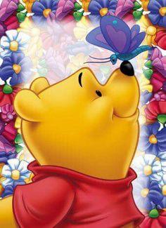 Diamond Painting Winnie the Pooh Butterfly Kisses Kit Winne The Pooh, Cute Winnie The Pooh, Winnie The Pooh Quotes, Winnie The Pooh Friends, Cute Disney, Disney Art, Disney Pixar, Disney Collage, Disney Villains