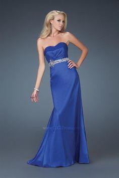 A-Line Sweetheart Neckline Strapless with Beading Floor Length Zipper Soft Satin prom dress