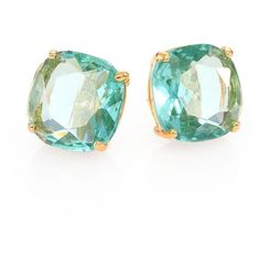 Kate Spade New York Faceted Square Stud Earrings (€35) ❤ liked on Polyvore featuring jewelry, earrings, accessories, brincos, jewels, blue, apparel & accessories, blue stud earrings, blue earrings and square earrings