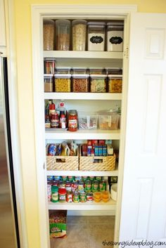 Sunny Side Up: Pantry Organization   The Next Level! I Love The Way Some  Things Are In Bins And The Color Of The Kitchen I Want Also The Risers.