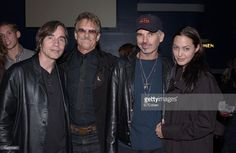Jackson Browne, Kris Kristofferson, Billy Bob Thornton and Angelina Jolie at the concert of John Trudell to celebrate the release of his new album'Bone Days'Angelina Jolie exec-produced the album
