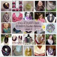 Cozy & Stylish Cowls - 25 FREE Crochet Patterns - Part 2