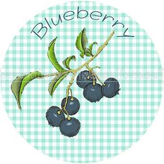 Mason Jar Labels Bueberry Canning Label Jar Label