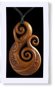 Maori bone and jade pendant necklaces are traditional, spiritual talismans from New Zealand. Carvers utilize several Maori symbols in these little...