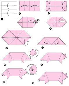 Origami de porco